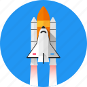 missile, shuttle, space, spacecraft, spaceship, start, startup icon