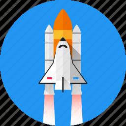 missile, shuttle, space, spacecraft, spaceship, start, startup icon