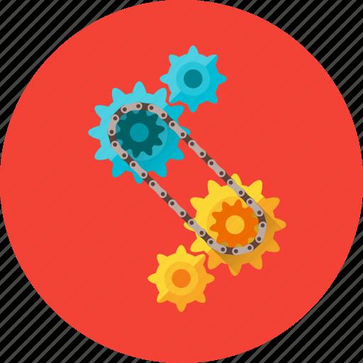circuit, cogs, cogwheel, gear, settings, technology, transfer circuit icon