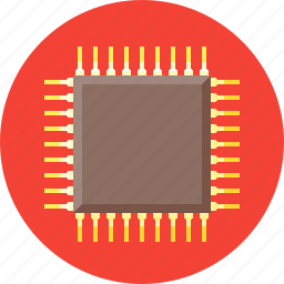 chip, computer, cpu, device, microchip, processor, technology icon
