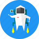 backpack, science, space, space backpack, suit, technology, turbine icon