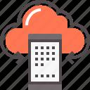 cloud, cloud tech, mobile, server, technology icon