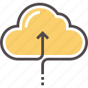 cloud, data, data transfer, technology, upload icon