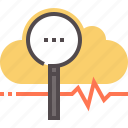 cloud, diagnostics, fix, network, technology icon