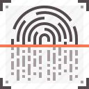 check, fingerprint, scan, security, technology icon