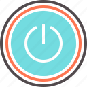 button, off, on, power, turn off icon