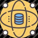 anaylsis, data, database, network, technology icon