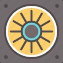 cooling, fan, hi fan, machine, technology icon