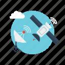 background, computer, concept, modern, network, satellite, technology icon