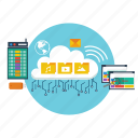 background, cloud, computer, computing, modern, network, technology icon