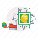 artificial intelligence, background, computer, modern, network, technology icon
