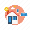 background, computer, energy, modern, network, smart home, technology icon