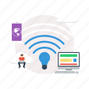 background, computer, internet, lifi, modern, network, technology icon