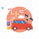 background, computer, mobile, modern, network, smart car, technology icon
