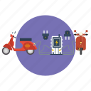 background, computer, electric, modern, motor cycle, network, technology icon