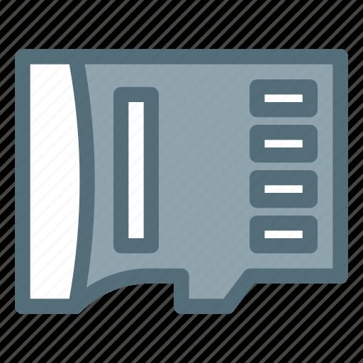 card, data, disk, drive, memory, micro, sd icon