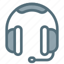 audio, headphone, headset, mic, modern, technology icon