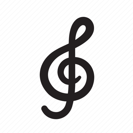audio, clef, creative, crisp, media, music, music note, musical, play, shape, song, symphony icon