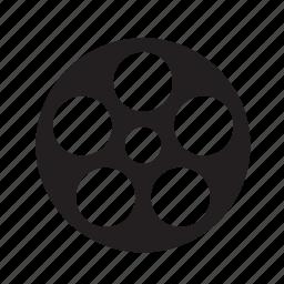 cinema, film, film roll, media, movie, multimedia, play, reel, shape, video icon
