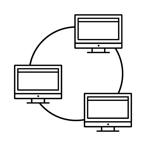 collaboration, computers, net, network icon