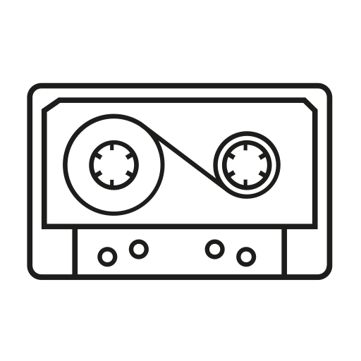 analogic, cassette icon
