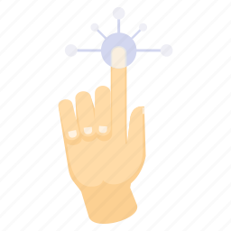 click, finger, gesture, gestures, hand, touch icon