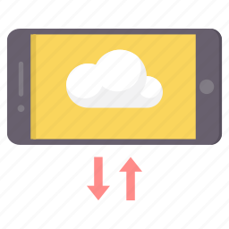 communication, connection, download, mobile, network, upload icon