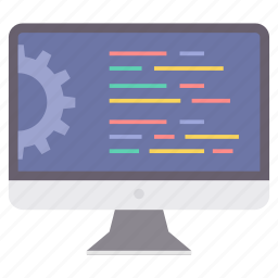 computer, configuration, display, language, settings, technology icon