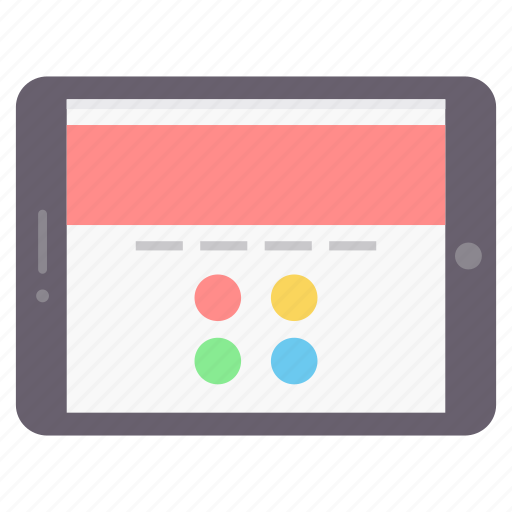 app, application, design, ipad, tablet icon