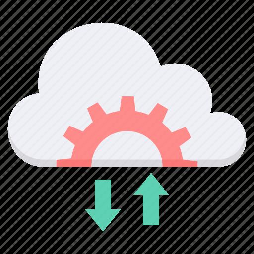 cloud, computing, data, download, server, storage, upload icon