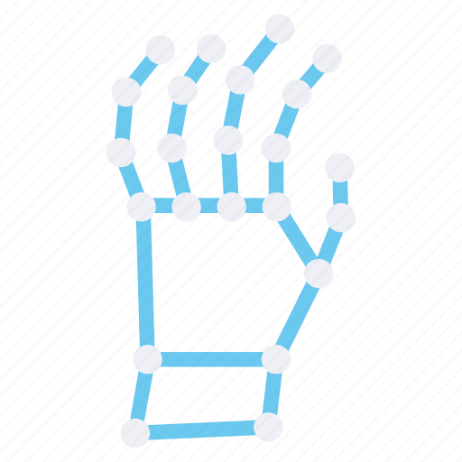finger, fingers, gesture, hand, skeleton icon