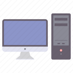 computer, desktop, device, display, monitor, pc, system icon
