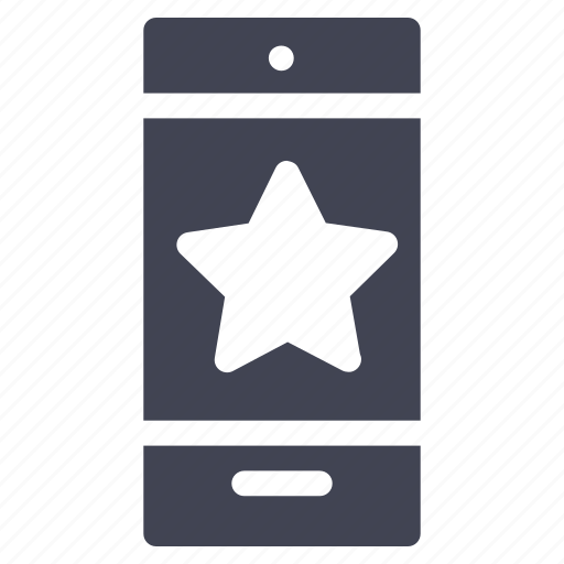bookmark, mobile, phone, smartphone, star, starred, technology icon