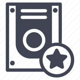 bookmark, star, starred, storage, technology icon