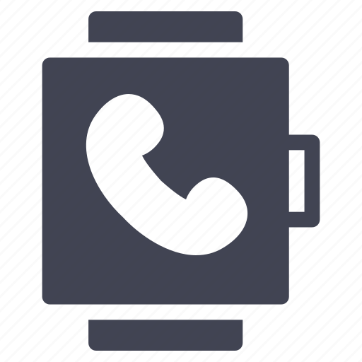 call, communication, smart, talk, technology, watch icon