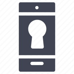 lock, mobile, phone, security, smartphone, technology, telephone icon