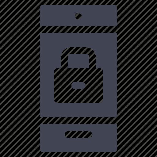 lock, locked, mobile, phone, smartphone, technology, telephone icon
