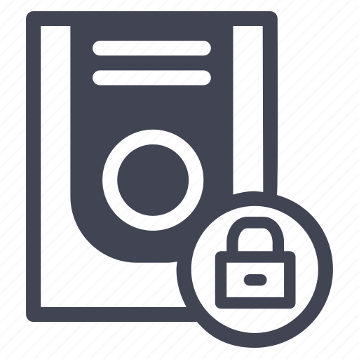lock, locked, safety, security, storage, technology icon