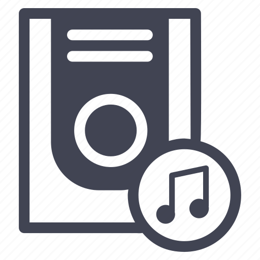 audio, entertainment, music, note, sound, storage, technology icon