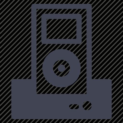 audio, dock, ipod, listen, music, technology icon
