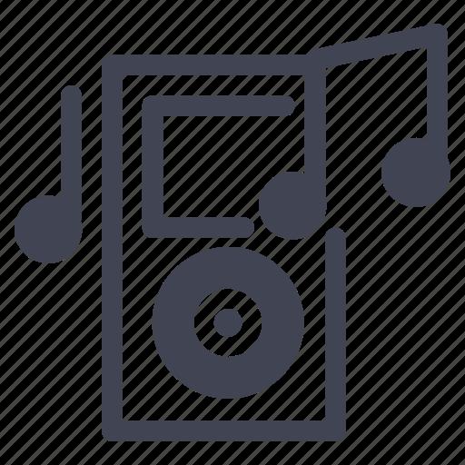 audio, entertainment, ipod, listen, music, note, technology icon