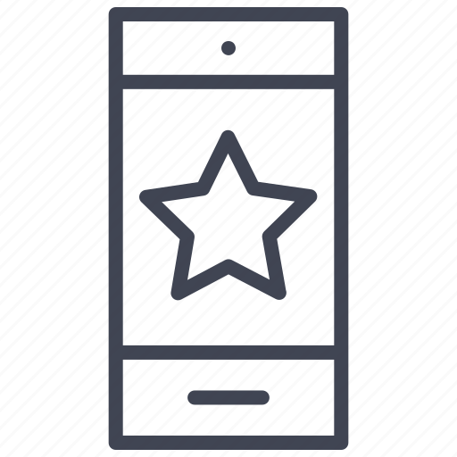 bookmark, favourite, mobile, phone, smartphone, star, technology icon