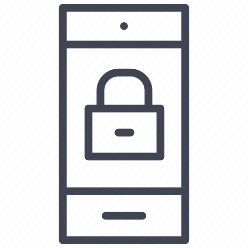 locked, mobile, phone, smartphone, technology icon
