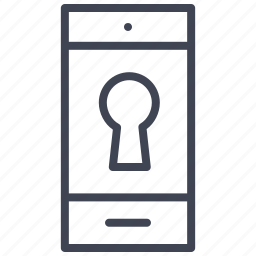 lock, mobile, phone, security, smartphone, technology icon