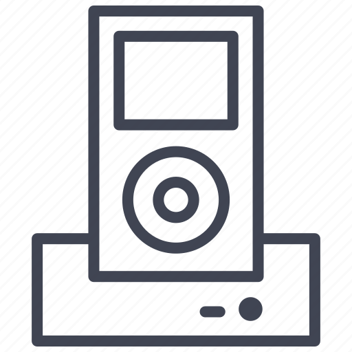 dock, ipod, music, player, sound, technology icon