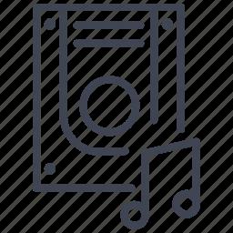 audio, data, music, sound, storage, technology icon