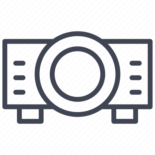 device, presentation, projector, screen, technology icon