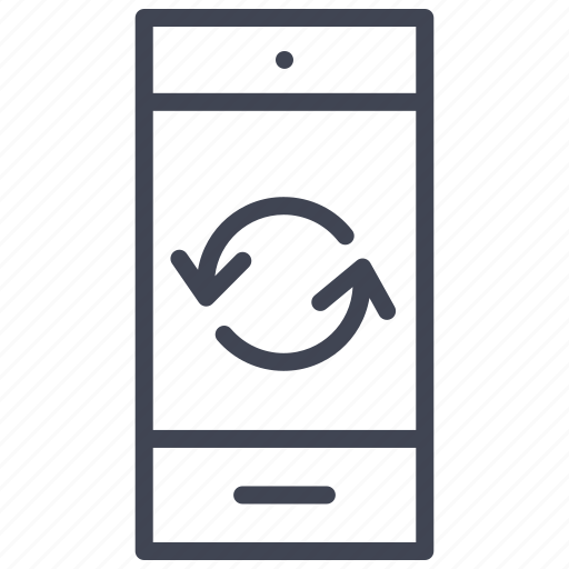 device, mobile, phone, refresh, rotate, smartphone, technology icon