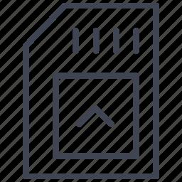 card, data, sd, storage, technology icon