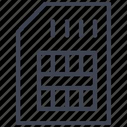 card, device, sim, storage, technology icon